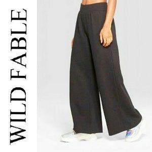 Wild Fable Black Wide Leg Sweat Pants NWT